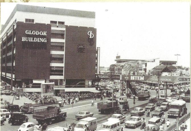 "PD Pasar Jaya Glodok (Glodok Building) tahun 1971 Sumber: Buku ""Pancoran Riwayatmu"""