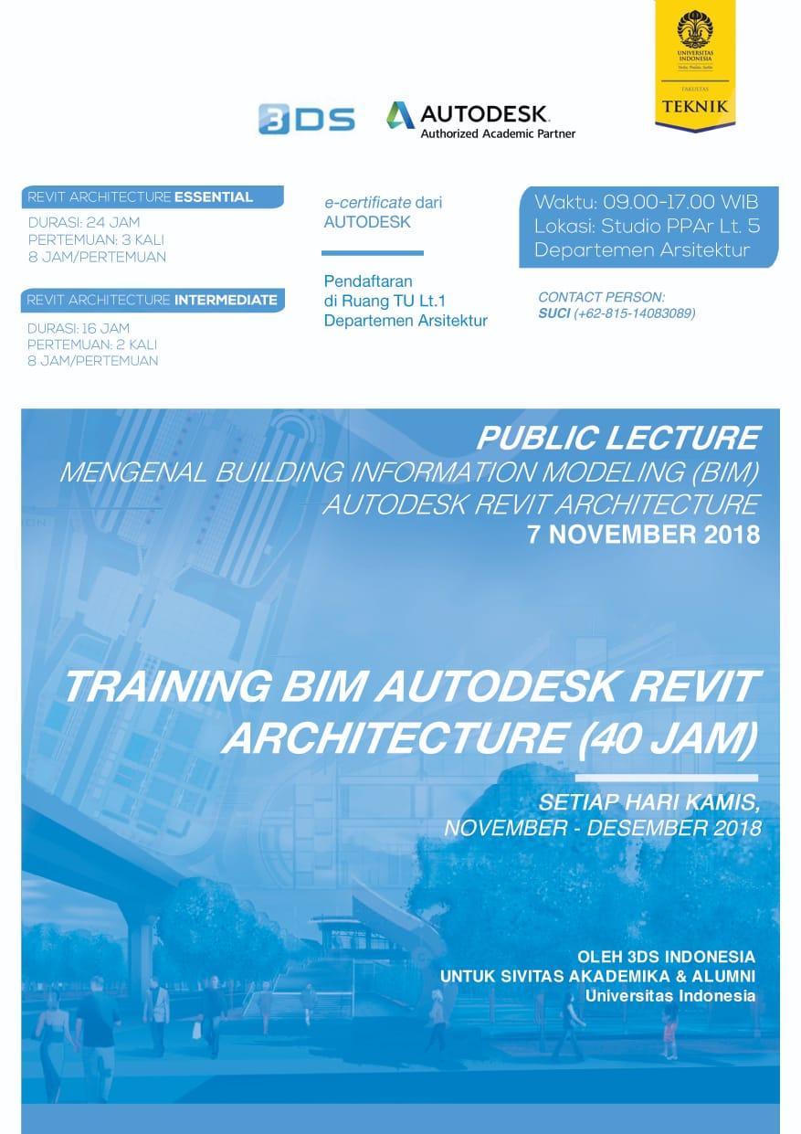 Training BIM Autodesk Revit Architecture